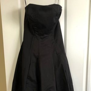 EXPRESS Black Strapless Skater Dress
